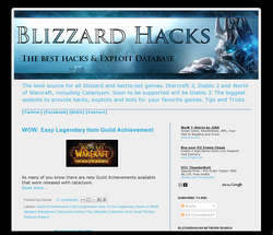 Blizzard Hacks World of Warcraft Starcraft Diablo