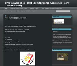 Free Runescape Accounts Daily
