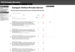 Conquer Private Servers