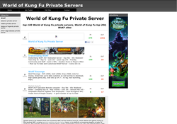 World of Kung Fu Private Servers