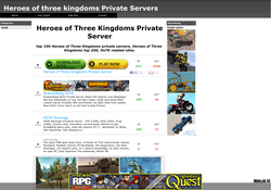 Heroes of Three Kingdoms Private Servers