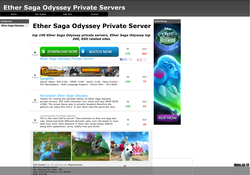 Ether Saga Odyssey Private Servers